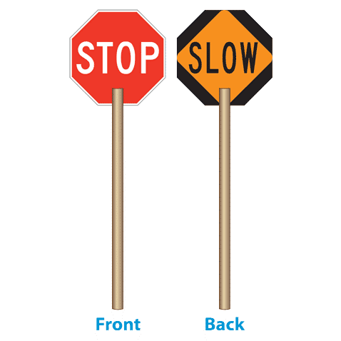 Stop/Slow Paddle with 60