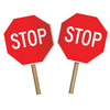Stop/Slow or Stop/Stop Hand Paddle - U.S. Signs and Safety - 2