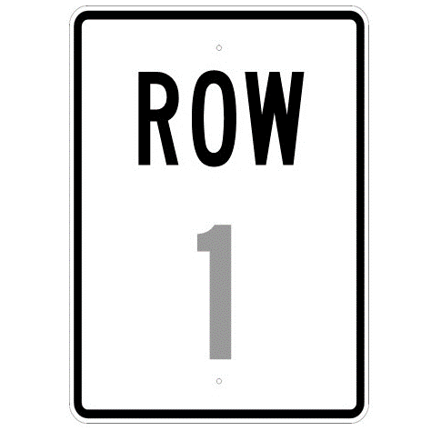 Row # Sign - U.S. Signs and Safety