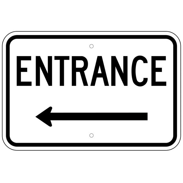 Entrance Left Arrow Sign - U.S. Signs and Safety