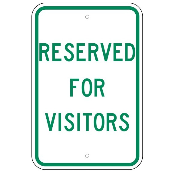 Reserved For Visitors Sign - U.S. Signs and Safety