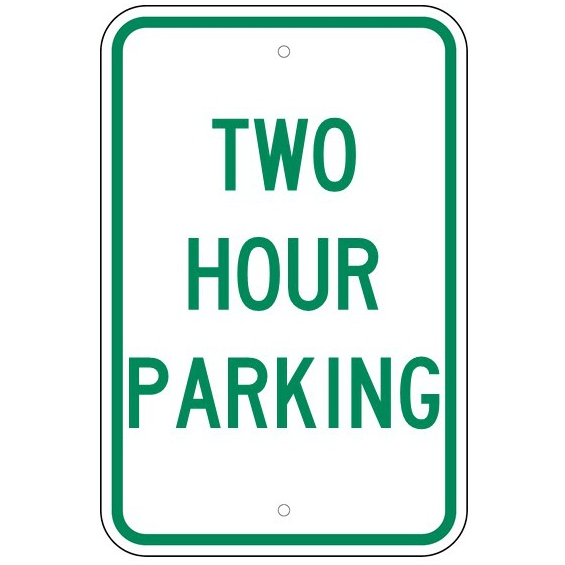 Two Hour Parking Sign - U.S. Signs and Safety