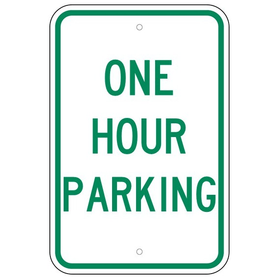 One Hour Parking Sign - U.S. Signs and Safety