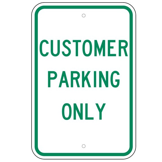 Customer Parking Only Sign - U.S. Signs and Safety