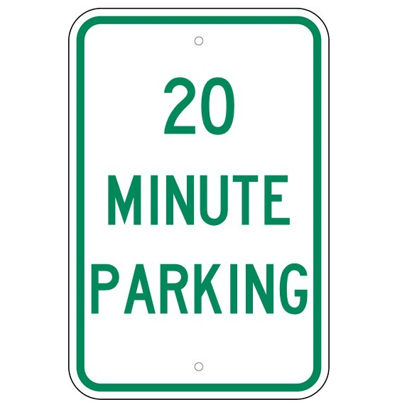 20 Minute Parking Sign - U.S. Signs and Safety