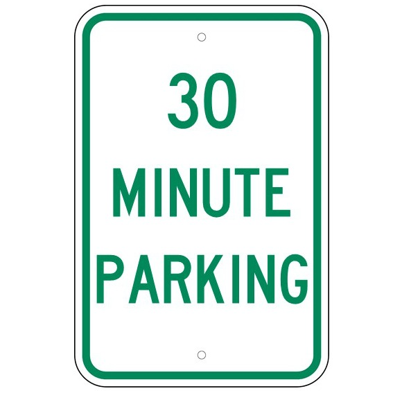 30 Minute Parking Sign - U.S. Signs and Safety