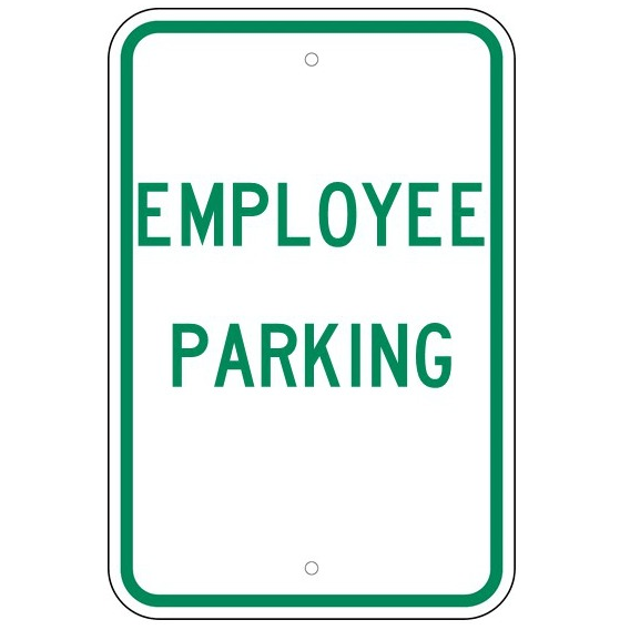 Employee Parking Sign - U.S. Signs and Safety