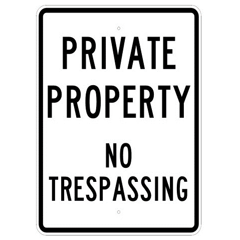 Private Property No Trespassing Sign - U.S. Signs and Safety