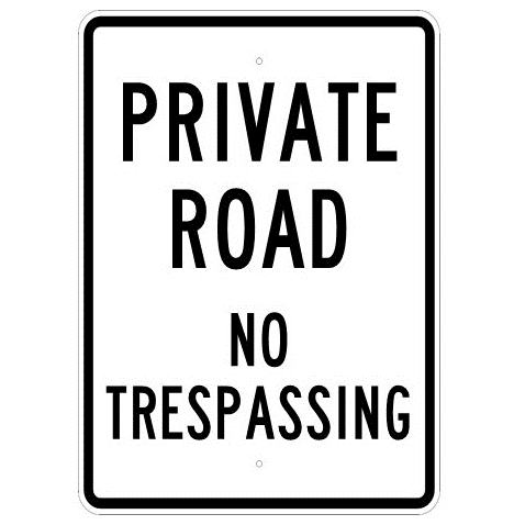 Private Road No Trespassing Sign - U.S. Signs and Safety