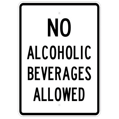 No Alcoholic Beverages Allowed Sign - U.S. Signs and Safety