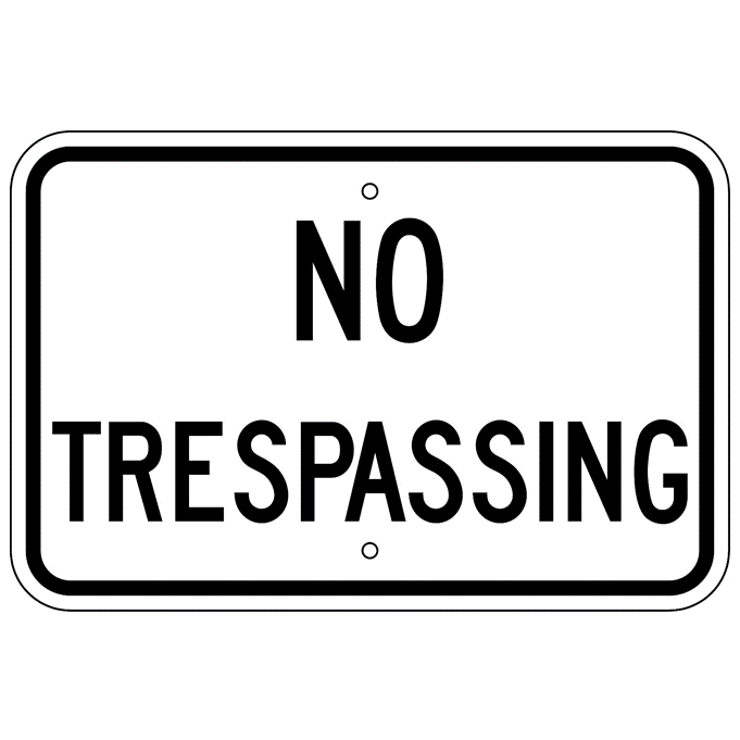 No Trespassing Sign - U.S. Signs and Safety