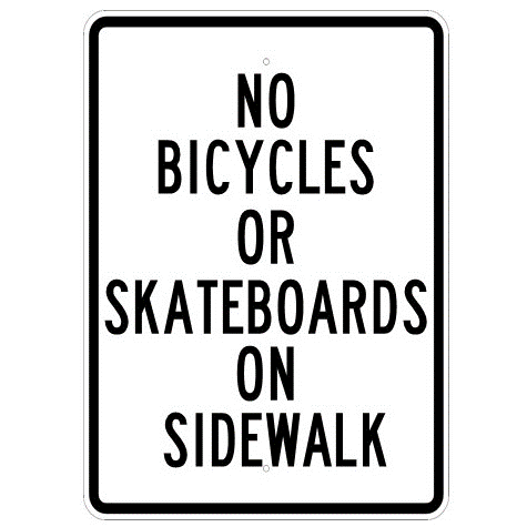 No Bicycles Or Skateboards On Sidewalk Sign - U.S. Signs and Safety