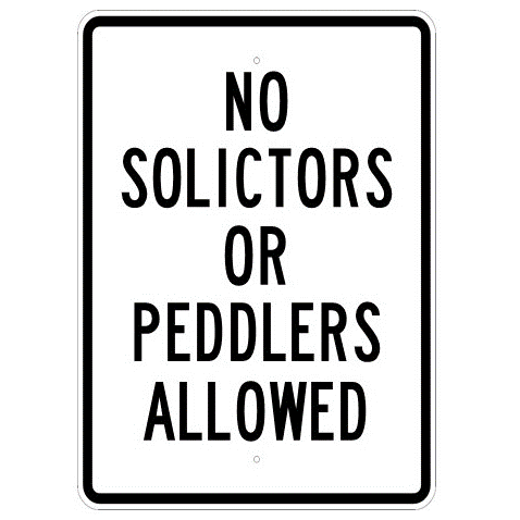 No Solicitors Or Peddlers Allowed Sign - U.S. Signs and Safety