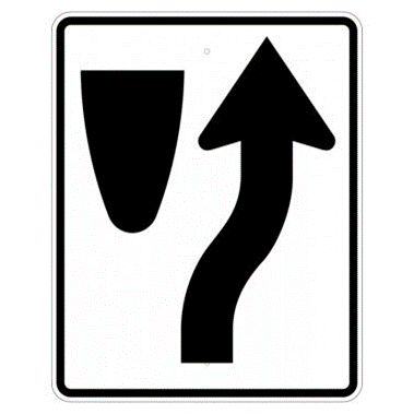 Keep Right Symbol Sign, MUTCD R4-7 - U.S. Signs and Safety