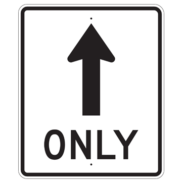 Mandatory Straight Sign, MUTCD R3-5A - U.S. Signs and Safety