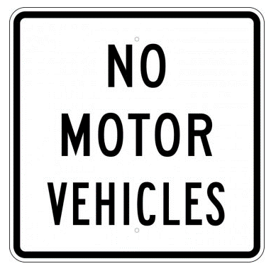 No Motor Vehicles Sign - U.S. Signs and Safety