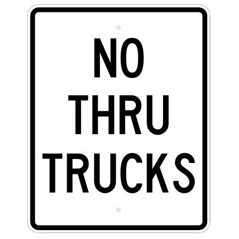 No Thru Trucks Sign - U.S. Signs and Safety