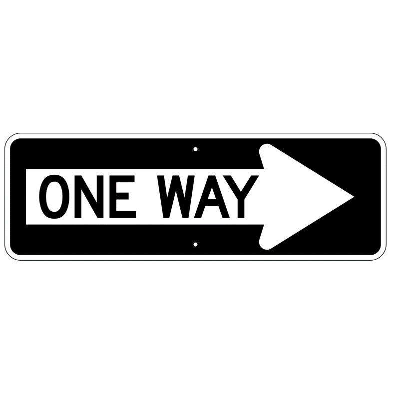 One Way Right Sign - U.S. Signs and Safety