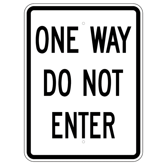 One Way Do Not Enter Sign - U.S. Signs and Safety