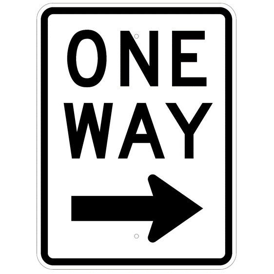 One Way Right Arrow Sign - U.S. Signs and Safety