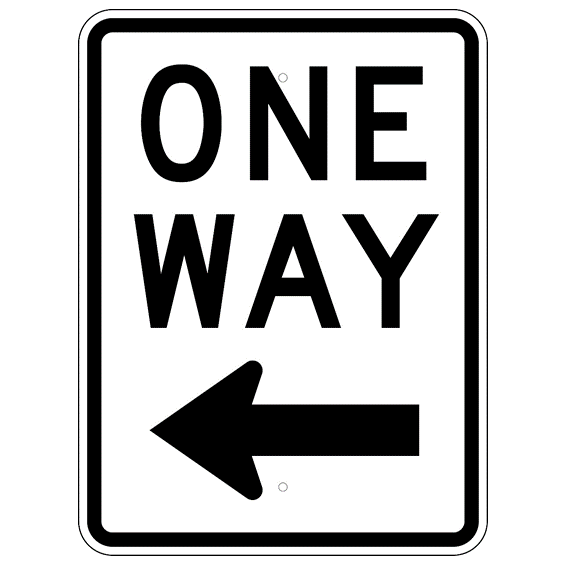 One Way Left Arrow Sign - U.S. Signs and Safety