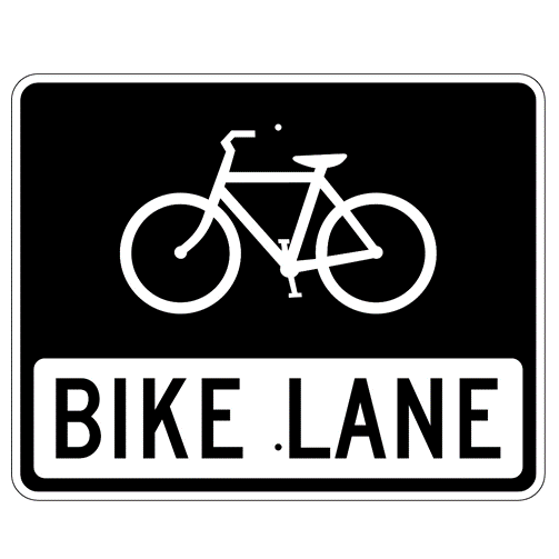 Bike Lane Symbol And Text Sign - U.S. Signs and Safety