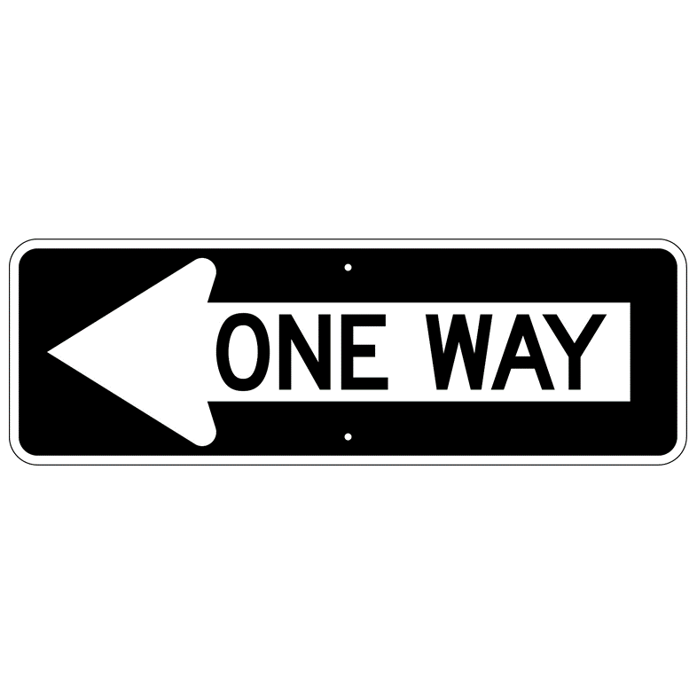 One Way Left Sign - U.S. Signs and Safety