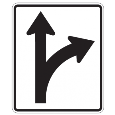 Optional Movement Right Sign - U.S. Signs and Safety