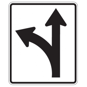Optional Movement Left Sign - U.S. Signs and Safety