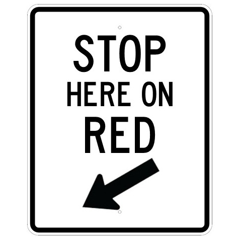 Stop Here On Red Sign - U.S. Signs and Safety