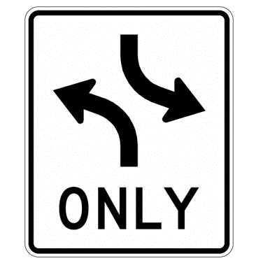 Two Way Left Turn Sign - U.S. Signs and Safety