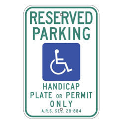 Arizona-Reserved Parking Sign - U.S. Signs and Safety
