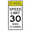 School Speed Limit 30 When Flashing Sign - U.S. Signs and Safety - 2