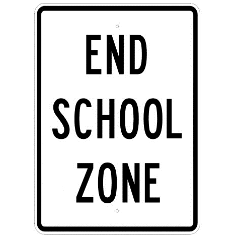 End School Zone Sign - U.S. Signs and Safety