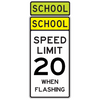 School Speed Limit 20 When Flashing Sign - U.S. Signs and Safety - 1