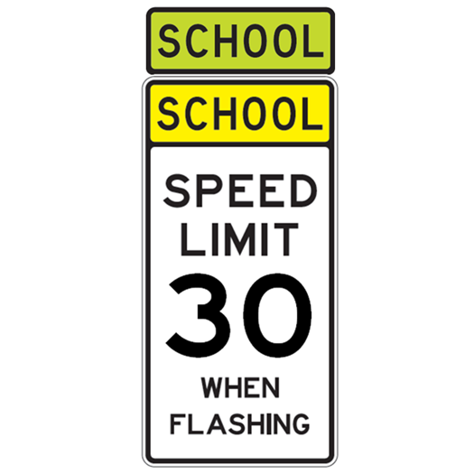 School Speed Limit 30 When Flashing Sign - U.S. Signs and Safety - 1