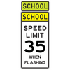 School Speed Limit 35 When Flashing Sign - U.S. Signs and Safety - 1