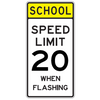 School Speed Limit 20 When Flashing Sign - U.S. Signs and Safety - 2