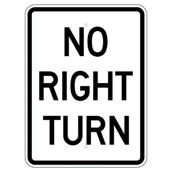 No Right Turn Sign - U.S. Signs and Safety