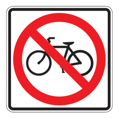 No Bicycles Symbol Sign - U.S. Signs and Safety