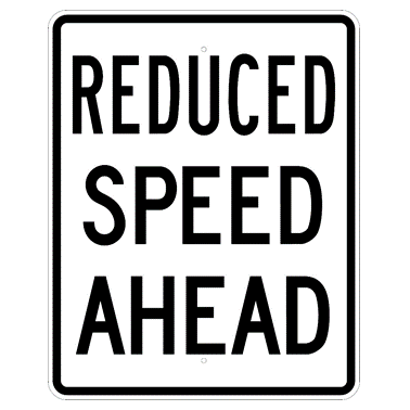 Reduced Speed Ahead Sign - U.S. Signs and Safety