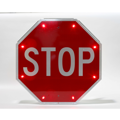 Stop Sign - Solar Flashing LED Stop Sign - U.S. Signs and Safety - 1