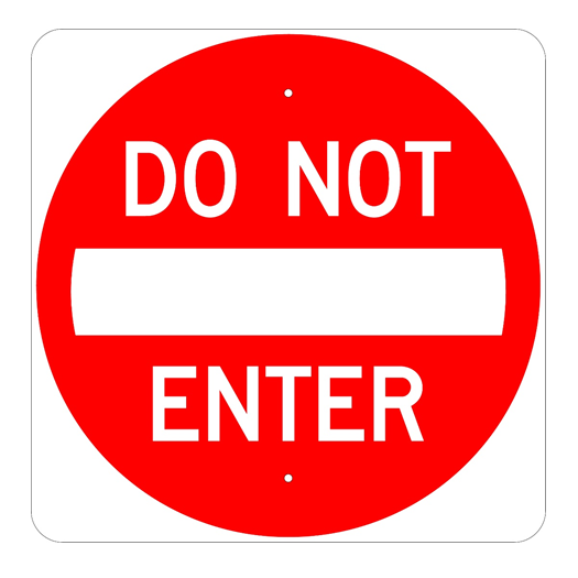 Do Not Enter Sign - U.S. Signs and Safety