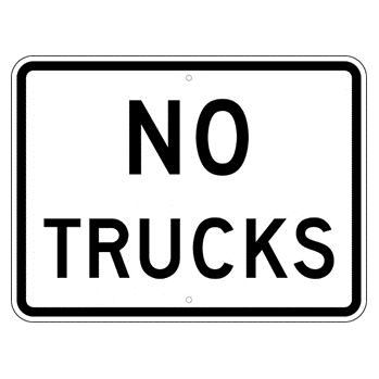 No Trucks Sign - U.S. Signs and Safety