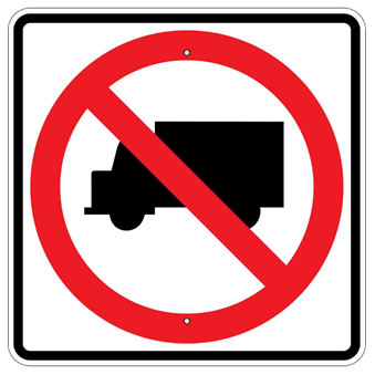No Trucks Symbol Sign - U.S. Signs and Safety