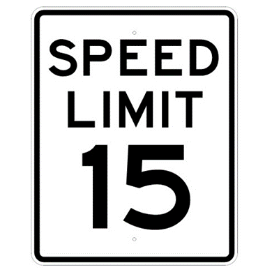 Speed Limit 15 mph sign, MUTCD R2-115, Reflective sheeting on heavy duty aluminum - U.S. Signs and Safety