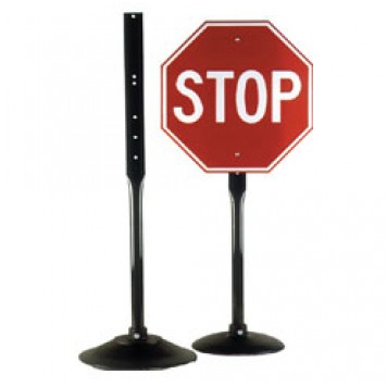 Cast Iron Pedestal Base and Post - U.S. Signs and Safety - 1