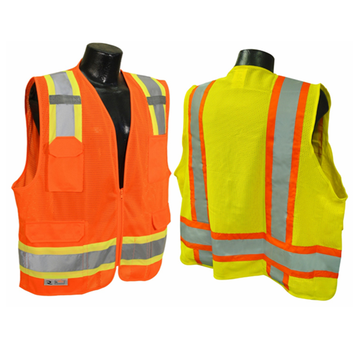 Class II Refl. Vest Mesh With Silver - U.S. Signs and Safety - 1