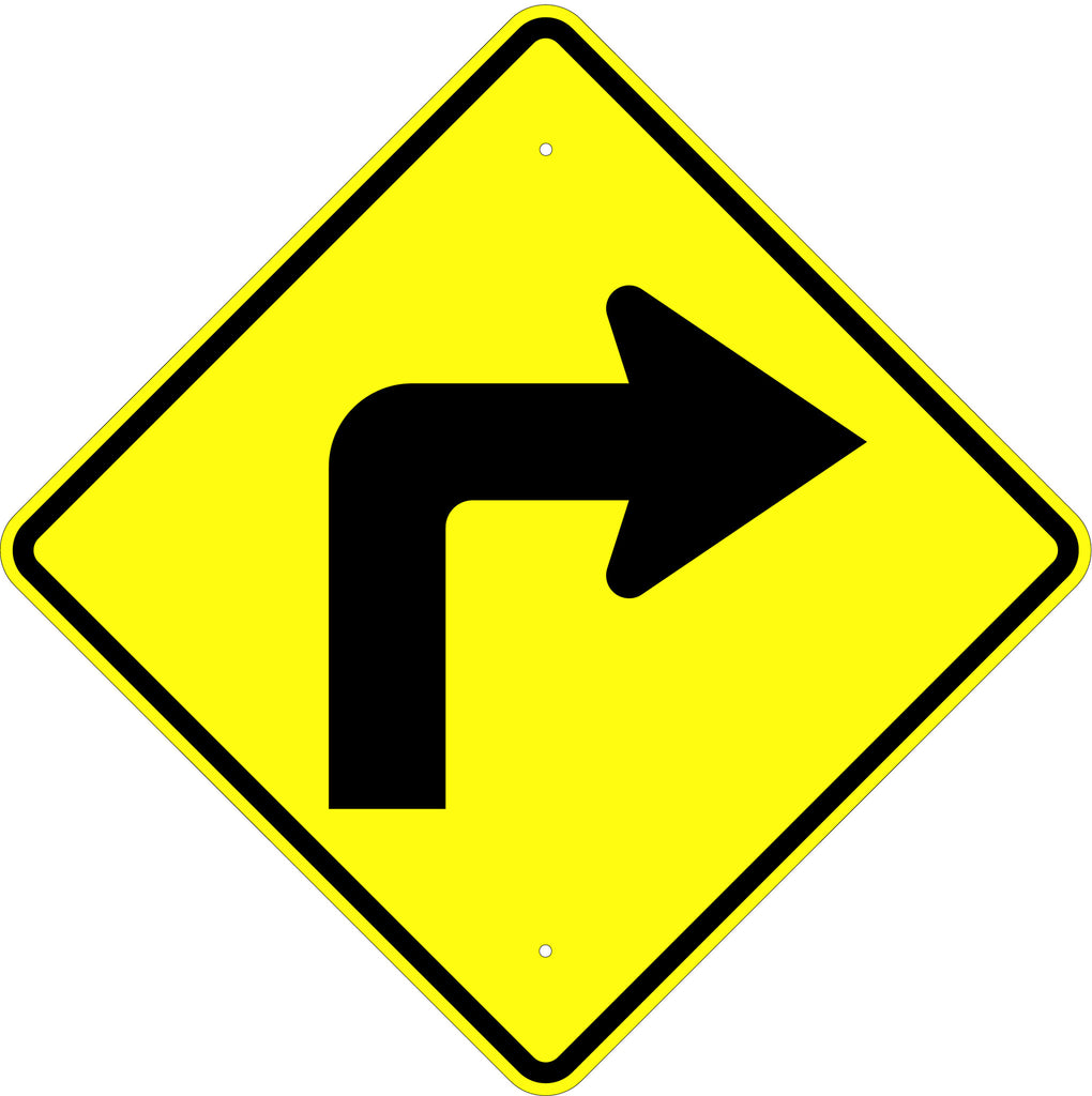 Turn Right Symbol Sign - U.S. Signs and Safety