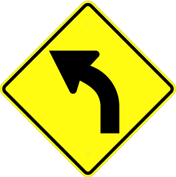 Curve Left Symbol Sign - U.S. Signs and Safety